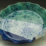 Seascape Fluted Pie Plate