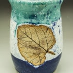 Seascape Wine Chiller with Leaf Imprint
