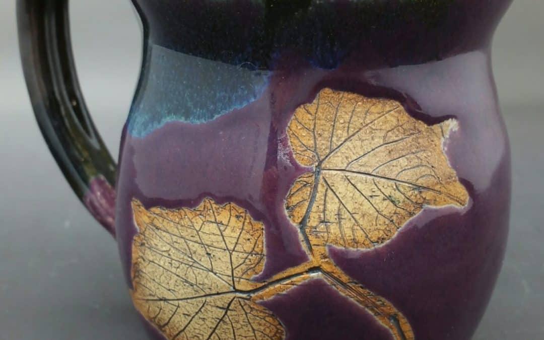 Purple Night Leaf Mug